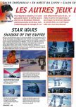 Scan of the preview of Star Wars: Shadows Of The Empire published in the magazine Consoles + 050