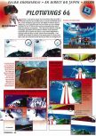 Scan of the preview of Pilotwings 64 published in the magazine Consoles + 050