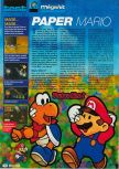 Scan of the review of Paper Mario published in the magazine Consoles + 117, page 1