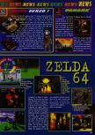 Scan of the preview of The Legend Of Zelda: Ocarina Of Time published in the magazine Consoles News 11