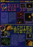 Scan of the preview of Duke Nukem 64 published in the magazine Consoles News 11