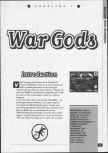Scan of the walkthrough of War Gods published in the magazine La bible des secrets Nintendo 64 1, page 1