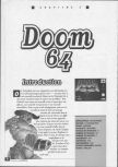 Scan of the walkthrough of Doom 64 published in the magazine La bible des secrets Nintendo 64 1