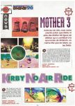 Scan of the preview of Kirby's Air Ride published in the magazine Joypad 060