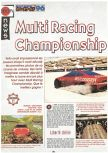 Scan of the preview of Multi Racing Championship published in the magazine Joypad 060, page 1