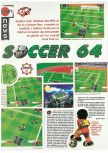 Scan of the preview of J-League Dynamite Soccer 64 published in the magazine Joypad 062, page 1