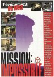 Scan of the preview of Mission: Impossible published in the magazine Joypad 065, page 1