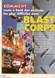 Scan of the walkthrough of Blast Corps published in the magazine X64 HS1, page 1