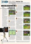 Scan of the walkthrough of All-Star Baseball 2000 published in the magazine Expert Gamer 59, page 1