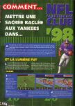 Scan of the walkthrough of NFL Quarterback Club '98 published in the magazine X64 HS2