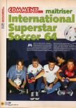 Scan of the walkthrough of International Superstar Soccer 64 published in the magazine X64 HS02, page 1