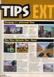 Scan of the walkthrough of Rampage 2: Universal Tour published in the magazine X64 HS7
