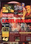 Scan of the walkthrough of Castlevania published in the magazine X64 HS7