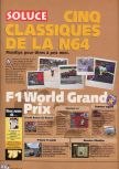 Scan of the walkthrough of F-1 World Grand Prix published in the magazine X64 HS7