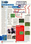 Scan of the walkthrough of Madden NFL 99 published in the magazine Expert Gamer 54, page 1