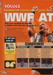 Scan of the walkthrough of WWF Attitude published in the magazine X64 HS9, page 1