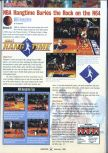 Scan of the review of NBA Hangtime published in the magazine GamePro 101, page 1