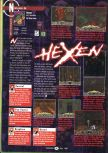 Scan of the review of Hexen published in the magazine GamePro 106, page 1