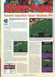 Scan of the review of International Superstar Soccer 64 published in the magazine GamePro 107, page 1