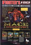 Scan of the walkthrough of Mace: The Dark Age published in the magazine GamePro 109, page 1