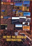 Scan of the preview of Aero Fighters Assault published in the magazine GamePro 110