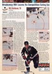 Scan of the review of NHL Breakaway 98 published in the magazine GamePro 115, page 1