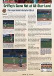 Scan of the review of Ken Griffey Jr.'s Slugfest published in the magazine GamePro 118, page 1