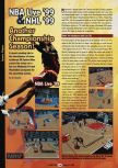 Scan of the preview of NBA Live 99 published in the magazine GamePro 119, page 1