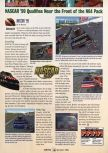 Scan of the review of NASCAR '99 published in the magazine GamePro 121, page 1