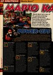 Scan of the walkthrough of Mario Kart 64 published in the magazine 64 Solutions 01, page 1