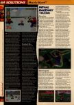Scan of the walkthrough of Mario Kart 64 published in the magazine 64 Solutions 01, page 11