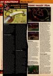 Scan of the walkthrough of Mario Kart 64 published in the magazine 64 Solutions 01, page 13