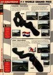 Scan of the walkthrough of F-1 World Grand Prix published in the magazine 64 Solutions 08