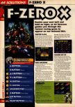 Scan of the walkthrough of F-Zero X published in the magazine 64 Solutions 08, page 1