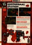Scan of the walkthrough of Quake II published in the magazine 64 Solutions 13, page 15