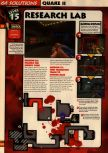 Scan of the walkthrough of Quake II published in the magazine 64 Solutions 13, page 17