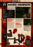 Scan of the walkthrough of Quake II published in the magazine 64 Solutions 13, page 19