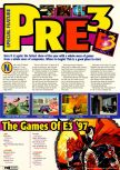 Scan of the article Pre-E3 1997 published in the magazine Electronic Gaming Monthly 096, page 1