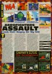 Scan of the preview of Aero Fighters Assault published in the magazine Electronic Gaming Monthly 098, page 1