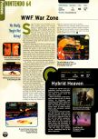 Scan of the preview of Hybrid Heaven published in the magazine Electronic Gaming Monthly 102, page 1
