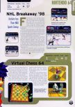 Scan of the preview of NHL Breakaway 98 published in the magazine Electronic Gaming Monthly 104, page 1