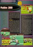 Scan of the review of Madden NFL 2000 published in the magazine Q64 6, page 1