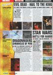 Scan of the preview of Star Wars: Episode I: Battle for Naboo published in the magazine Consoles Max 19