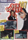 Scan of the preview of Goldeneye 007 published in the magazine Le Magazine Officiel Nintendo 01
