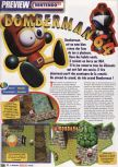 Scan of the preview of Bomberman 64 published in the magazine Le Magazine Officiel Nintendo 01