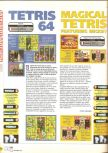 Scan of the review of Magical Tetris Challenge published in the magazine X64 14