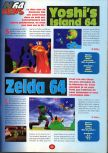 Scan of the preview of Yoshi's Story published in the magazine 64 Player 1