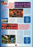 Scan de la preview de Killer Instinct Gold paru dans le magazine 64 Player 1