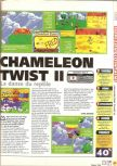Scan of the review of Chameleon Twist 2 published in the magazine X64 15