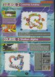 Scan of the walkthrough of Diddy Kong Racing published in the magazine 64 Player 3